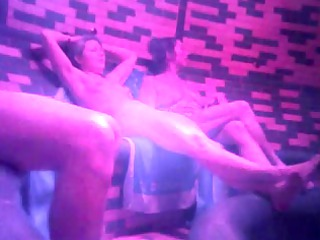 elderly and young prostitutes into sauna