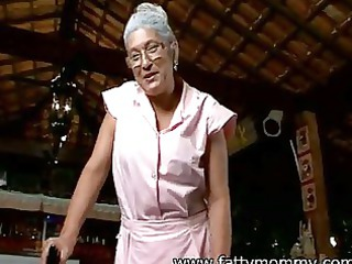 mature old eve seventy solitary time elderly with