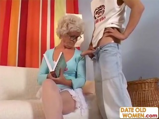 elderly acquires gangbanged for real