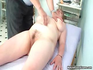 fake nurse finger banging his older
