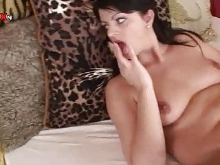 shaggy mother shoves a huge dick up her cougar