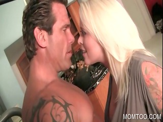enormously impressive milf flirting with sweet guy