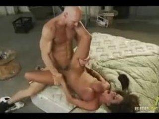 horny big-tit brunette woman slut sucks