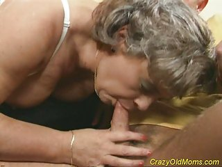 mad granny woman gets cock gang-banged and office