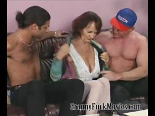 granny with firm breast drilling two