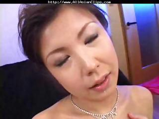 desperate oriental mature babe asaoka eats triple