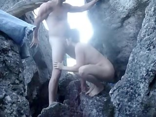 fucking housewife on the rocks