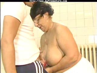 mature obtains a beautiful piercing from young