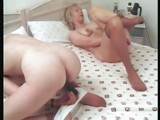 grown-up lesbians remove stockings for fisting