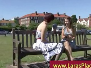 older chick picks up more young babe for her