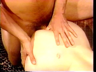 bitch acquires double vaginal drilling