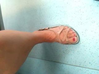 hidden cam elderly feet