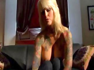 busty tattooed mature bleached eats libido and