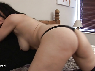 young european lady waiting for inexperienced cock