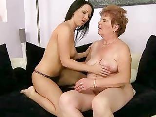 inexperienced copulates chubby grandma