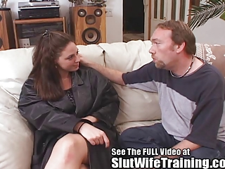 rebecca gets horny ds amp housewife cum licking
