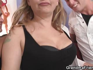 two fuckers bangs naughty mom