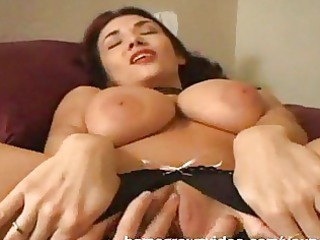 huge titty woman left with kitty dripping cumshots