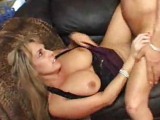 huge breasted woman is glad her boyfriend came