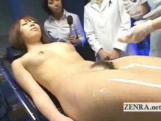 bizarre japanese medical exam with exposed belle