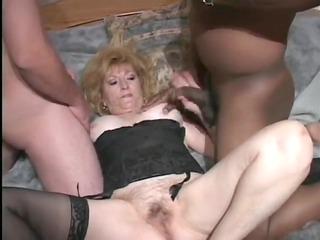 elderly inside hawt trio