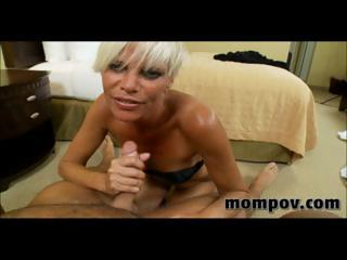 awesome blond lady drilling into hotel for money