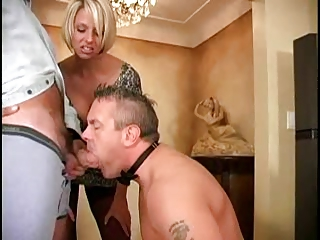 husband-slave is licking a lover of his woman