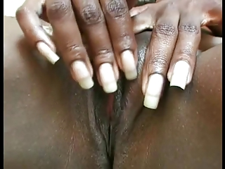 ebony lady masturbation