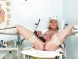 nasty nurse woman nada fucks herself with huge