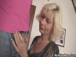 my goldenhaired mother in law seduces me inside