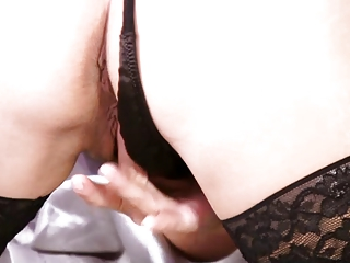 older blonde solo foreplay