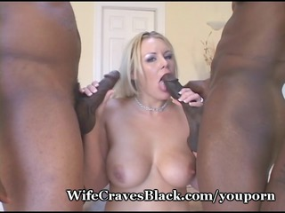 white spouse banged by ebony lovers