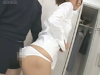 japan18 years elderly girl is white cream push