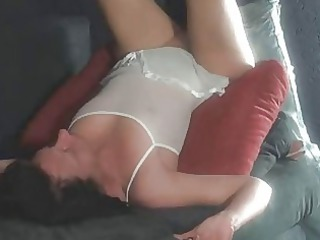 inexperienced chick sucks and gang-bangs with