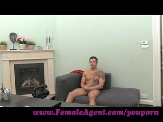 femaleagent. woman cums all over studs penis
