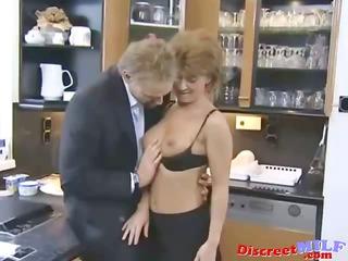 small hair english cougar woman