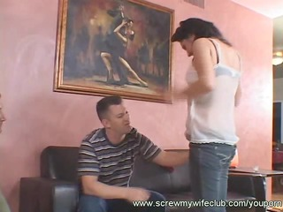 lady moans a lot when being drilled