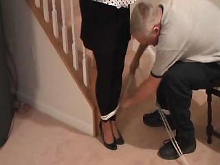 awesome cougar post tied and ballgagged 1