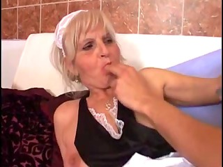 youthful boyfrend gang-bangs an old old