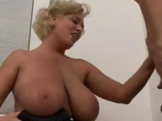 grownup blond with huge breast