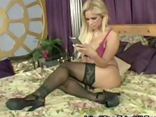 busty blonde milf with large tits copulates the