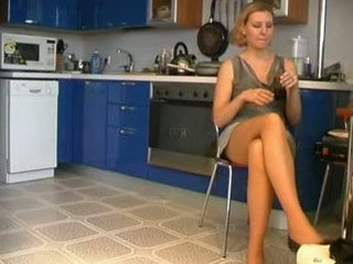 russian lady fucks in dining room