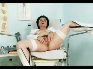 busty older woman bimbo does some filthy drill