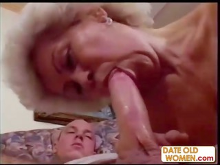 horny grandma pleasures her young neighbor