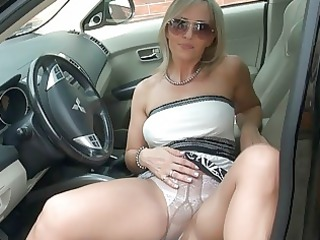 awesome bleached girl inside pantyhose
