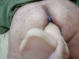 maiden strapon on giant vibrator into bottom your