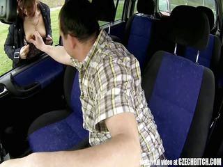 czech grown-up lady hooker pierced inside car