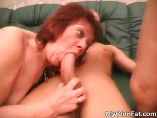 horny ginger mature babe plump slut sucking part6