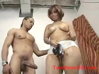 brown babe drill by youn black male