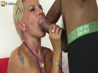 hawt ashen mommy in an mixed group porn